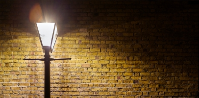 Street light brick wall london lambeth